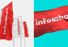 Finally we're here! Summing up a year of hard work. It was worth it! Launching InfoShare's new visual identity.